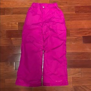 Girls Snow pants by Columbia